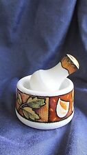By Joie  Collection Uptown Market Ceramic Spices Herbs Mortar & Pestle New!!