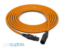Canare Quad L-4E6S Cable | Neutrik Gold XLR-F XLR-M | Orange 150 Feet | 150 Ft.
