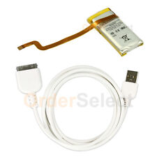 Fenzer Battery+USB Data Sync Cable for Apple iPod Video 5th Gen 30gb 616-0223 5G