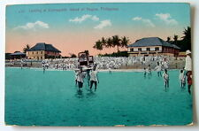VINTAGE POSTCARD LANDING AT DUMAGUETE ISLAND OF NEGROS PHILIPPINES #22ss6