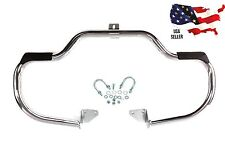 CHROME 06-17 HARLEY MUSTACHE ENGINE GUARD HIGHWAY CRASH BARS DYNA FXDC FXDB FXDF
