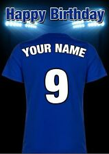 A5 Personalised Chelsea Shirt Football Greeting Birthday Card Any Name PIDMFF1