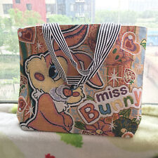 Women Girl Canvas Shoulder Bag Messenger Rabbit Tote Bags Purse Big Handbag New