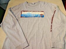 Vintage TIMBERLAND Mens Long Sleeve Tee XL Graphic T Shirt Mountain Scene