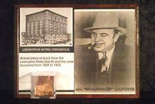 AL CAPONE brick piece from the lexington hotel his headquarters in chicago