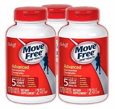3 BOT Schiff Move Free Advanced Triple Strength Glucosamine Chondroitin 170 Tabs