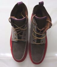 Mens Shoes DSQUARED2 Ankle Boots Lace-Up Brown Leather D2