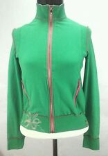 MISS SIXTY Spa M60 Green/Pink ZIP SWEATSHIRT TOP KNIT JACKET Medium M ** RARE **