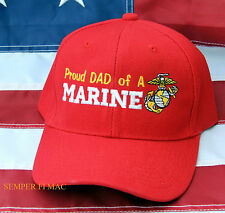 PROUD DAD OF A US MARINE HAT CAP WOWMH PIN UP NEPHEW AUNT UNCLE MOM MCRD GIFT