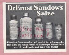 HAMBURG, Werbung 1914, Chemische Fabrik Dr. Ernst Sandow Salze Emser Salz