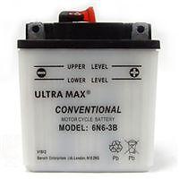 Genuine Ultra Max 6N6-3B, 6V 6AH 48 CCA Motorbike Motorcycle Battery