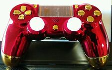 PS4 Custom Controller/Gamepad Iron Man Special Edition - Red Chrome on Gold