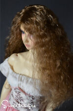 "8-9"" 1/3 BJD Hair IP SD doll wig Super Dollfie Natural blonde curls M-mohair"