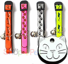 Reflective Cat Collar with FREE engraved Pet Tag & Ring