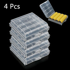4Pcs Hard Plastic White Case Cover Holder  Storage Box for AA / AAA Battery