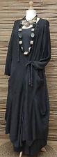 "LAGENLOOK 100%COTTON OVERSIZE LONG CARDIGAN*CHARCOAL*BUST UP TO 54""OSFA L-XL-XXL"