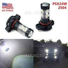 2x 50W CREE PSX24W 2504 6000K White LED Daytime Running Fog Light Bulb 2400LM US