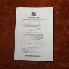 Task Force FALKLANDS War 1982. Original Surrender Leaflet .Code No.One.