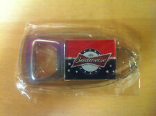 Budweiser Stars & Stripes Bottle Opener Key Ring - New