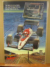 Indy Delco Electronics advertising poster indianapolis speedway 1991 2515