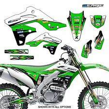 1992 1993 KX 125 250 GRAPHICS KIT KAWASAKI KX125 KX250 DECO DECALS STICKERS