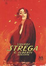 """TARGA VINTAGE """"1860 LIQUORE STREGA"""" PUBBLICITA', POSTER ADVERSTISING, BAR PLATE"""
