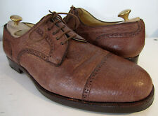 Stemar honey brown oxford cap lace up chaussures uk 10 eu 44.5 Moreschi