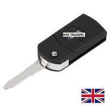 "2 Button MAZDA 2 3 5 6 FLIP REMOTE KEY FOB CASE WITH BLADE ""WITH LOGO"""