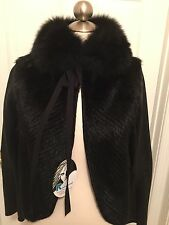 J. Mendel Ranch Mink Fox & Leather Jacket Size 8