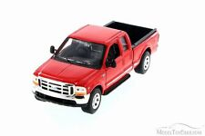 1999 Ford F350 Pickup, Red - Welly 22081 - 1/24 Scale Diecast Model Toy Car