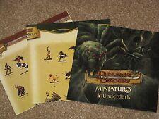 D&D Miniatures poster lot Underdark/Deathknell/War Drums checklists NEW