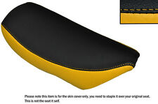 YELLOW & BLACK CUSTOM FITS SUZUKI TR 50 STRET MAGIC LEATHER SEAT COVER