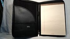 Debon 3691 Black Leather Zippered Leather Letter Sized Writing Pad