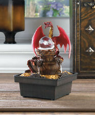 Red DRAGON rolling ball LED lighted lamp nightlight Table water Fountain Statue