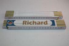 Zollstock mit  NAMEN    RICHARD    Lasergravur 2 Meter Handwerkerqualität