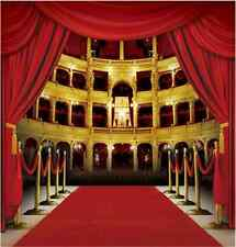 10x10FT Red Curtain Carpet Theater Stage Custom Photo Studio Background Backdrop