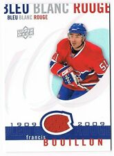 2008-09 Upper Deck Montreal Canadiens Centennial Jersey LBBR-BO Francis Bouillon
