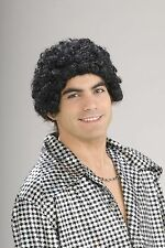 60's 70's Disco Black Afro Rapper Short Curly Wig Hair Costume Accessory