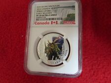 2016 Spiked Lizard NGC PF70 Canada S$10 .9999 Silver Coin pcgs anacs icg