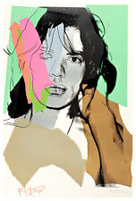 Mick Jagger II A2 by Andy Warhol High Quality Canvas Art Print