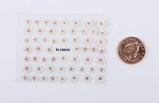 Puffy Pink & White Blossom Fiori 3d Nail Art Adesivi Decalcomanie Consigli Decorazione