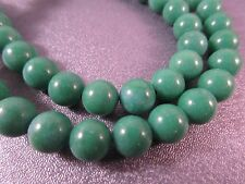 Dyed Green River Stone Round 8mm Beads 52pcs