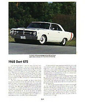 1968 Dodge Dart GTS Article - Must See !!