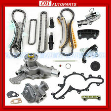 97-02 Ford Mazda 4.0L SOHC V6 Engine Timing Chain Kit+Water+Oil Pump w/o GEARS