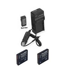 TWO 2X Batteries + Charger for Panasonic DMCFX48S DMCFX550 DMC-FX550N DMCFX550S