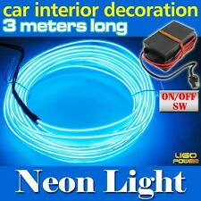 3M Blue Flexible Neon Light Glow EL-Wire Rope Car Party Strip HD