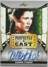 CARRIE FISHER LEAF PERFECTLY CAST STAR WARS PRINCESS LEIA AUTOGRAPH SIGNATURE