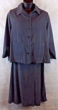 First Option Tool Gray Button Up Jacket w/ Pockets and Long Skirt- Sz 2X USA Mad