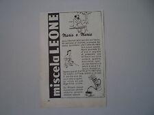 advertising Pubblicità 1950 SURROGATO CAFFE' MISCELA LEONE
