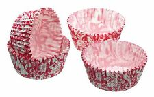 Pack of Sixty Pink Floral Cupcake Cases